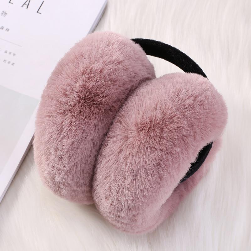 新款韩版可折叠耳套女秋冬季可爱耳罩仿兔毛保暖耳包男女耳捂耳暖