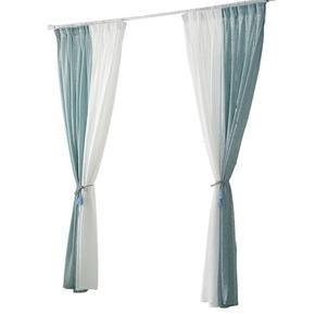 色黄色灰色紫色窗帘卧室 成品飘窗不透人加厚透光麻纱遮光阳台
