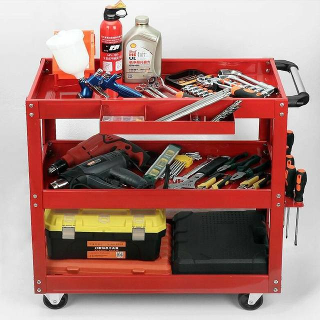 .Accessories collection, electrical storage parts box, office hardware tools, large trolleys, durable racks.