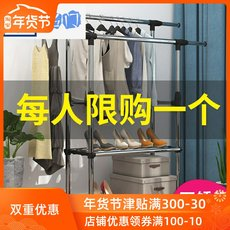 Telescopic drying racks, floor support, heavy quilt, single drying, stainless steel, cool, large, convenient and space saving