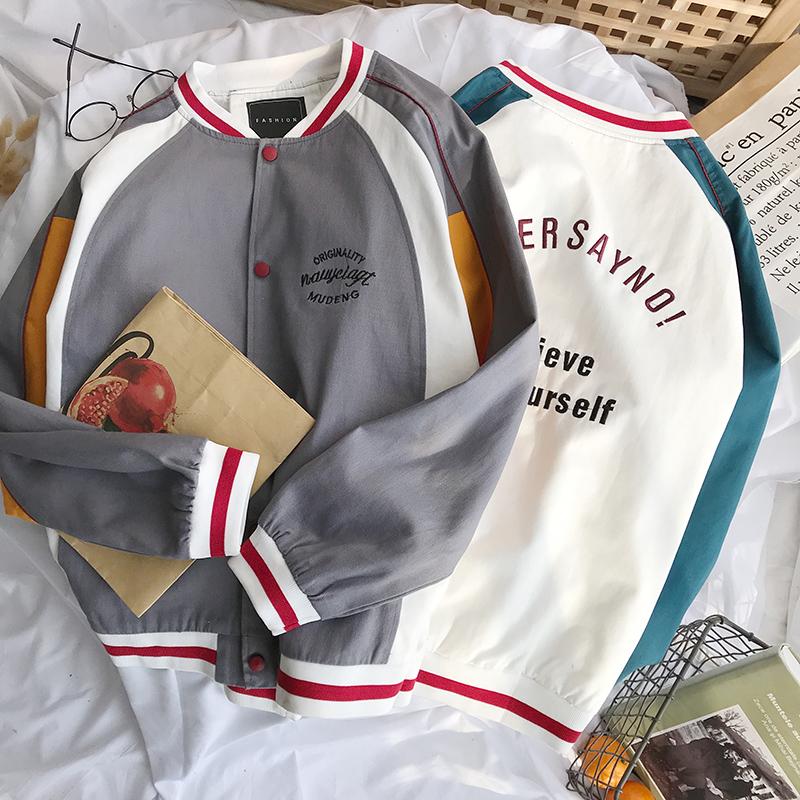 Mùa xuân và mùa thu áo khoác đồng phục bóng chày mới phiên bản nam lỏng lẻo của xu hướng áo khoác nam giản dị dành cho nam - Đồng phục bóng chày