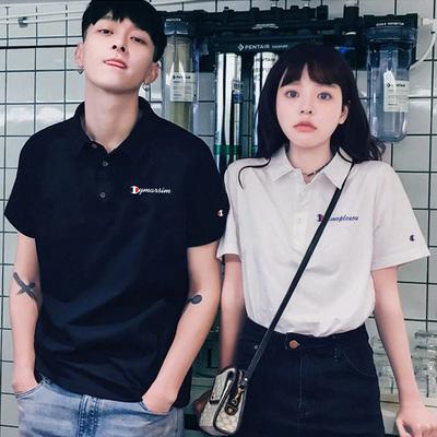 【夏季大放送!】粉丝福利秒杀!2021春季刺绣POLO衫情侣装T恤