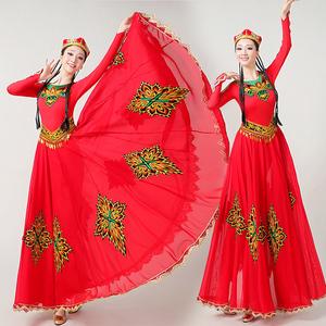 Chinese folk dance dress for women Xinjiang dance performance costume female art examination big swing skirt suit Chinese national style Uygur dance performance Costume