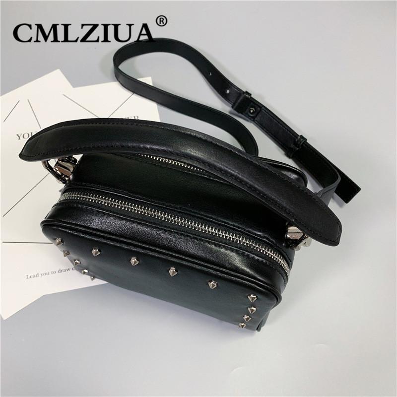 CMLZIUA/骆骐亚质感秋季新款潮牌时尚铆钉包单肩斜挎包真皮小方包