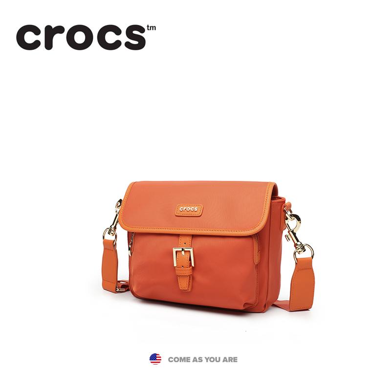 【美国潮牌】Crocs包包女简约单肩小方包时尚帆布尼龙休闲斜挎包