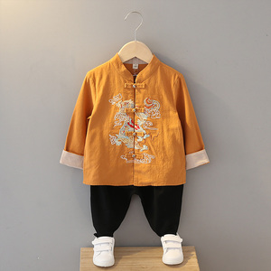 Boys Tang Suit for Kids Hanfu boysspring Tang clothes children Chinese style suits children cotton and hemp ancient clothes made in Ming Dynasty