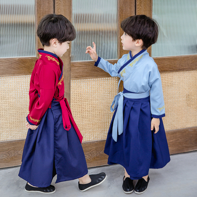 Boys Tang Suit for Kids Hanfu boysspring Tang clothes children Chinese style whole body suit