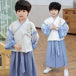 Boys Tang Suit for Kids Hanfu boy Chinese fashion season baby Chinese ancient costume master clothing children ancient style suit kindergarten performance Costume