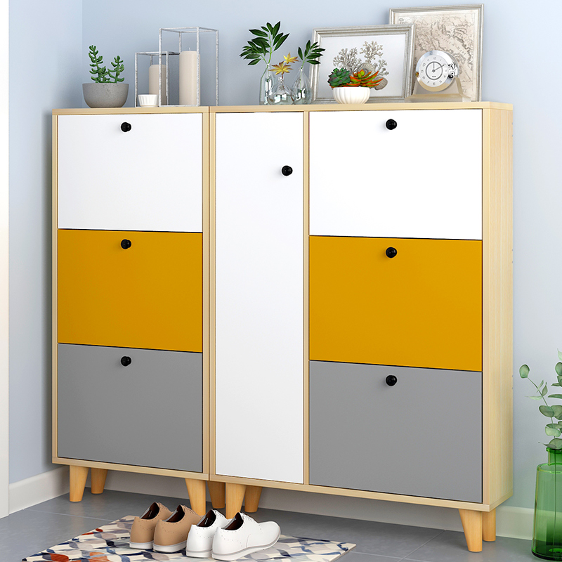Long 60 80cm wide 20 cm hopper ultra-thin shoe cabinet household economy door small shoe racks to accommodate the foyer cabinet