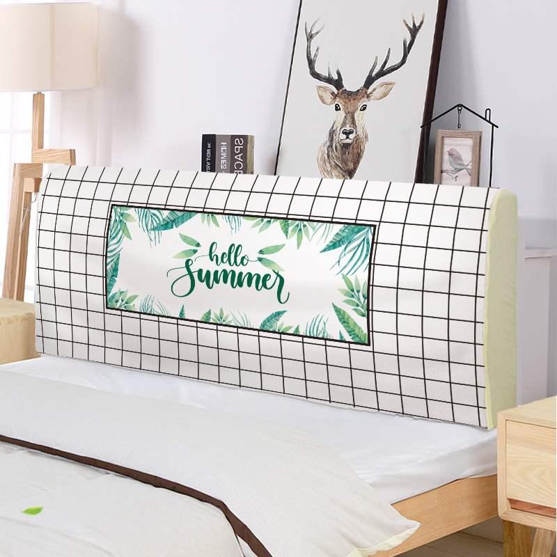 Vải bảo vệ giường chống bụi đầu giường che đầu giường che đầu gỗ che đầu đầy đủ bao quy đầu - Bảo vệ bụi