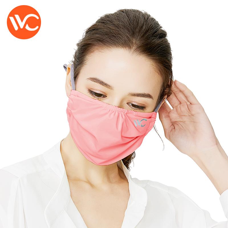 韓國VVC 防曬口罩女夏季薄款防塵易呼吸冰涼透氣可清洗防紫外線