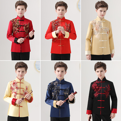 Boys Tang Suit for Kids Children's Tang costume,ancient costume, Han suit, Chinese traditional costume, poetry recitation, Chinese traditional culture performance chorus suit