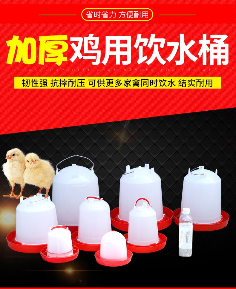 耐尔尼鸡水桶水槽饮水壶小鸡饮水器自动饮水壶喂水器养鸡设备用品详细照片