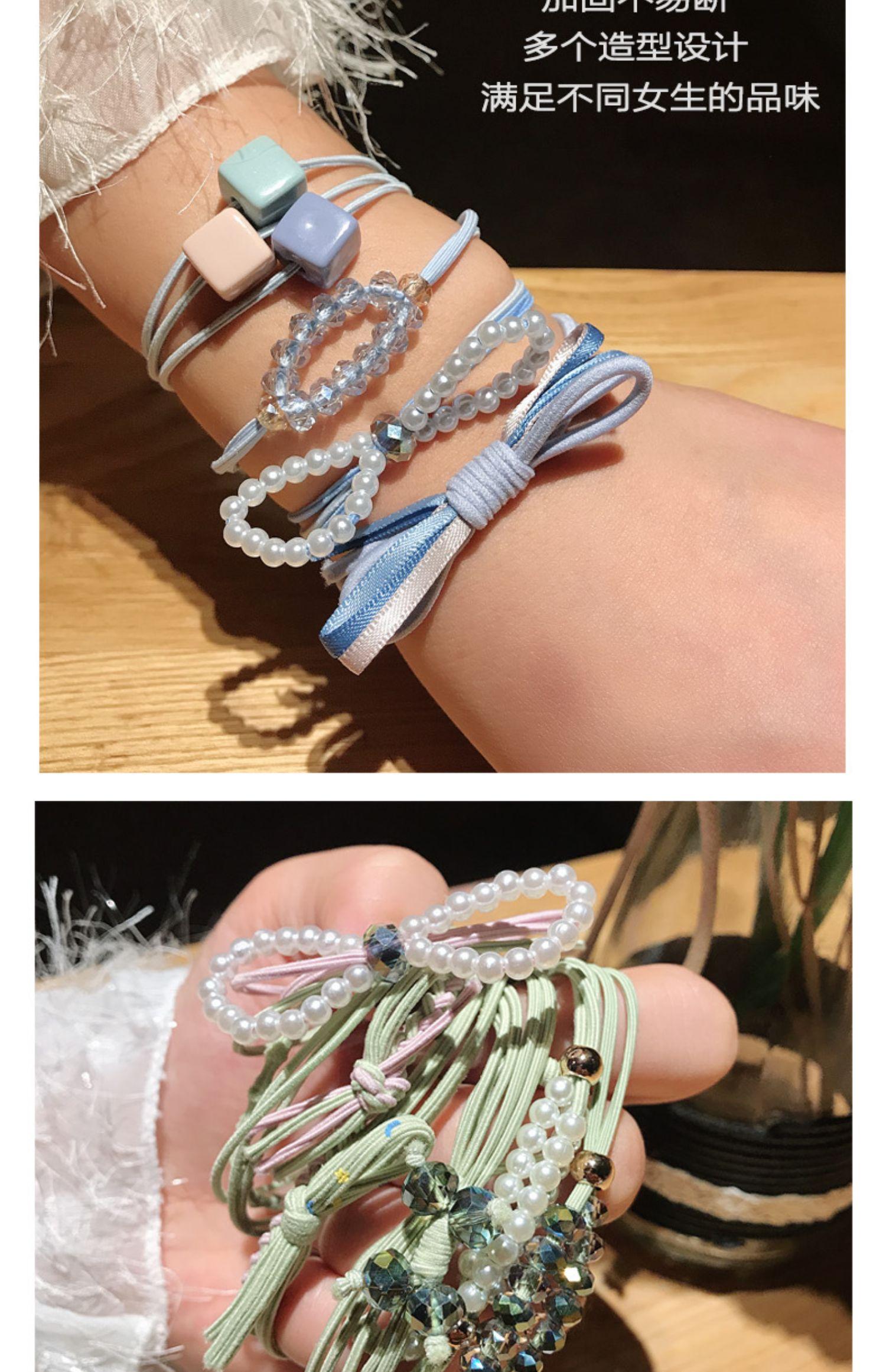 韩国头绳ins可爱少女网红发圈商品图片-3