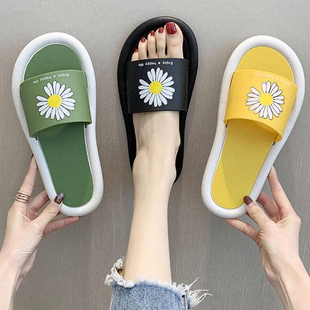 網紅拖鞋女 超火百搭2020年夏季新款ins潮室內居家外穿時尚小雛菊