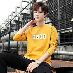 Bert Jazz Semir 2020 autumn male long-sleeved t-shirt cotton clothes autumn Qiuyi youth trend bottoming shirt