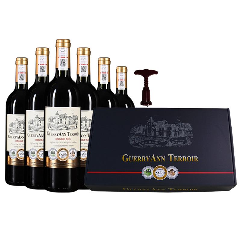 红酒整箱礼盒装顺丰包邮法国进口