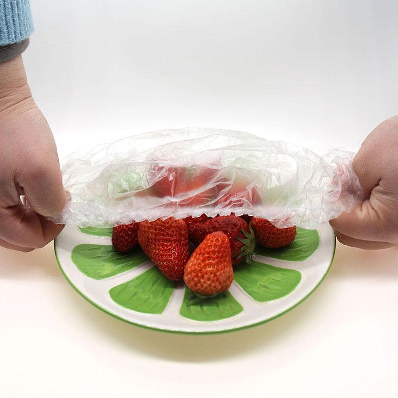 巧记堂一次性餐桌用品食品级保鲜膜套冰箱剩饭菜水果封口盖盒罩袋