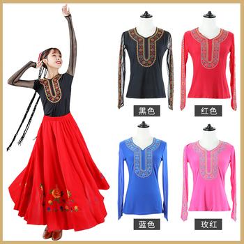 Одежда,  Размер гонка танец пиджак синьцзян народ одежда производительность одежда искусство тест практика гонг длинный рукав кадриль кружево вышитый женщина, цена 1316 руб
