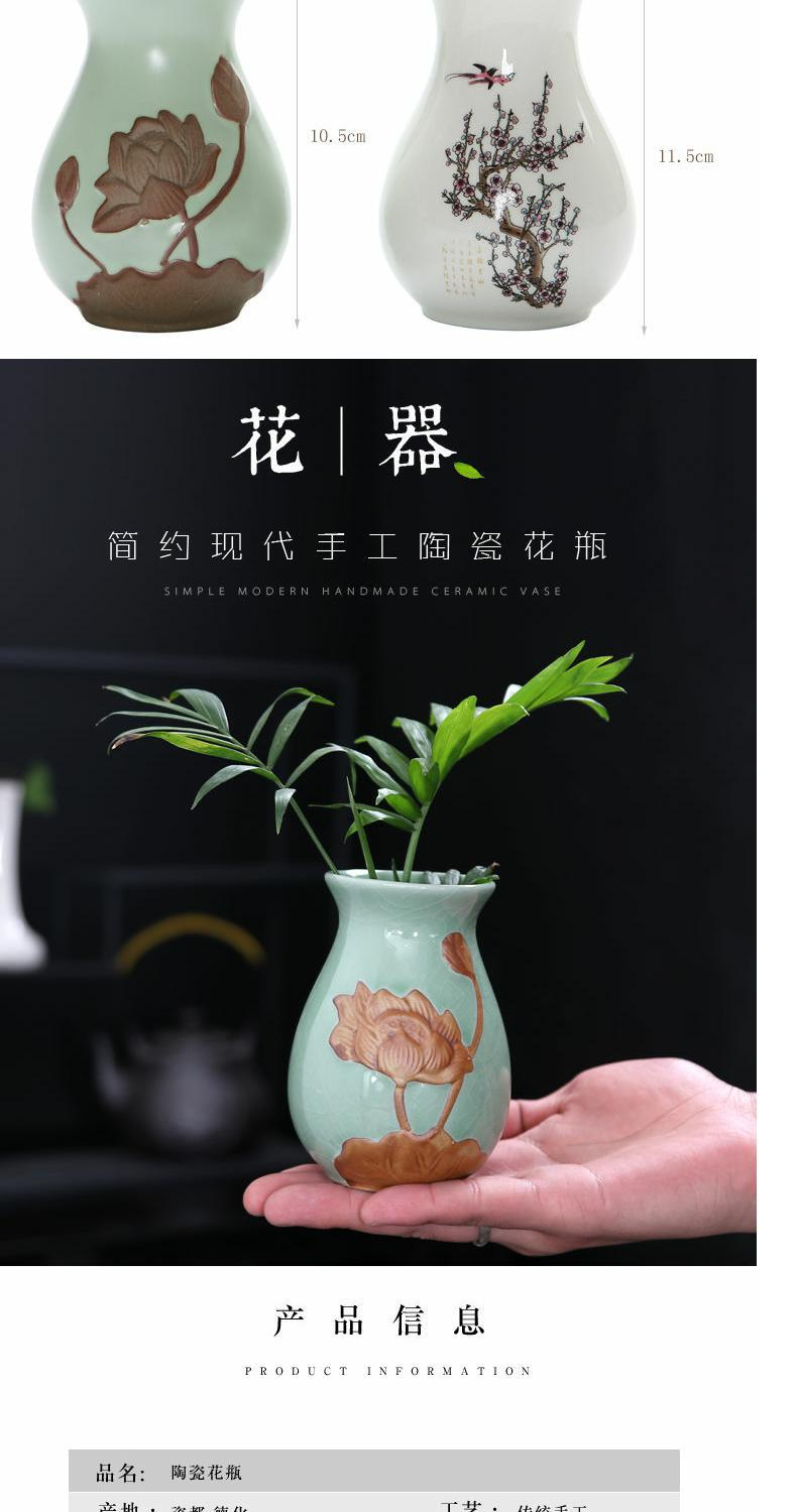 Violet arenaceous embossed hydroponic vase creative furnishing articles move fashion small flower receptacle mesa retro household act the role ofing is tasted