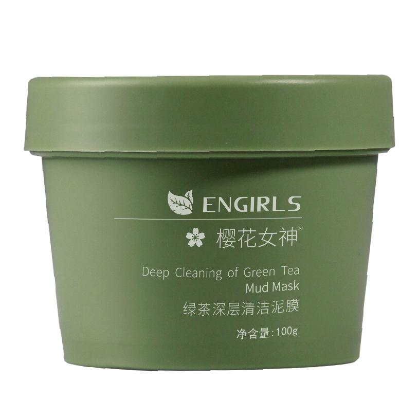 樱花女神绿茶冰肌清洁泥膜100g