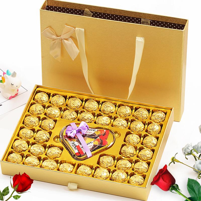 圣诞节礼物德芙巧克力礼盒装送女友创意浪漫生日表白万圣节糖果