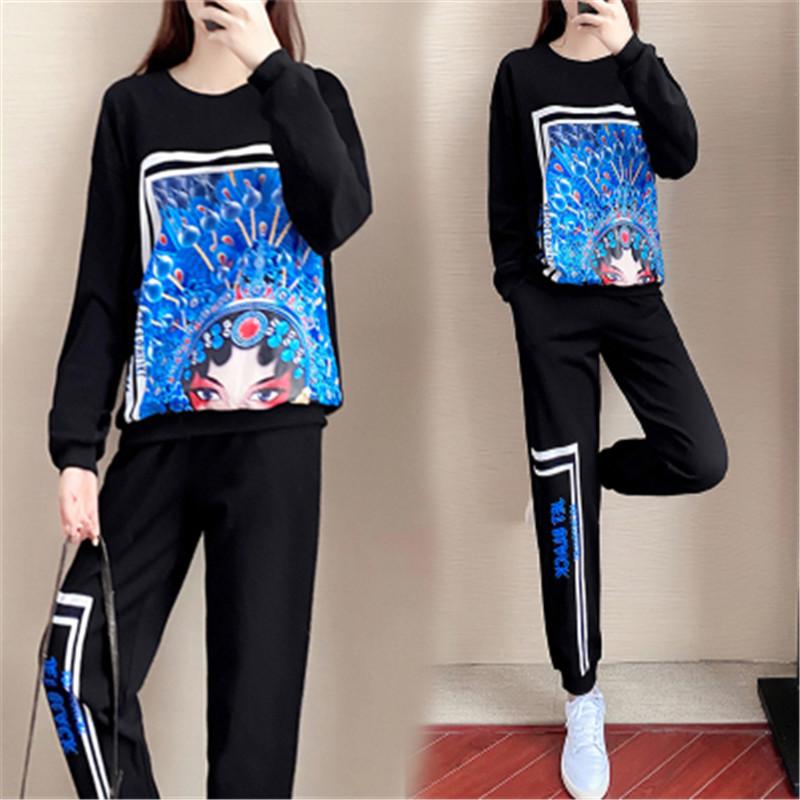休闲运动服套装女2021年春夏季韩版宽松时尚宽松洋气女衣服套装潮