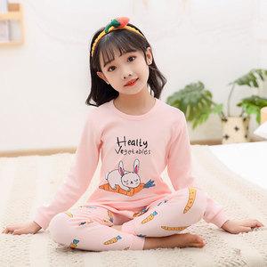 儿童内衣套装纯棉女童秋衣套装全棉小女孩秋衣秋裤两件套保暖睡衣