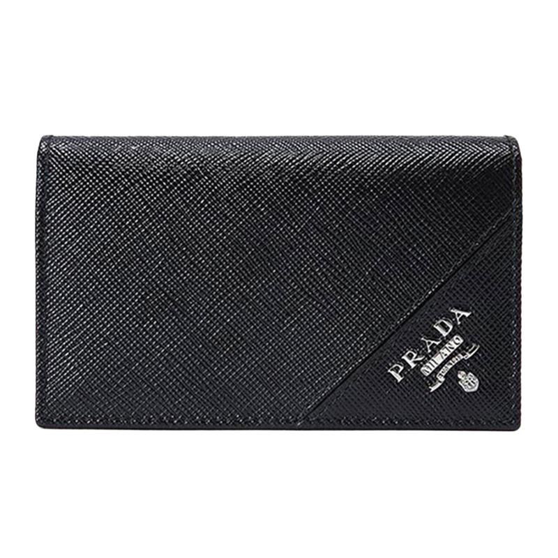 Prada普拉达男士短款牛皮黑色钱包2MC122-QME-F0002