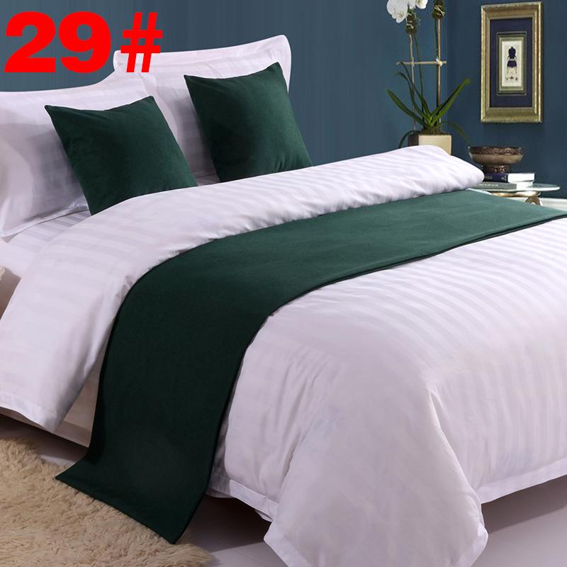 Hàn Quốc cửa hàng cờ giường bàn cờ giường bao gồm cuối giường cung cấp khăn tắm màu rắn giường đuôi khăn rượu vang giường giường khách sạn - Trải giường