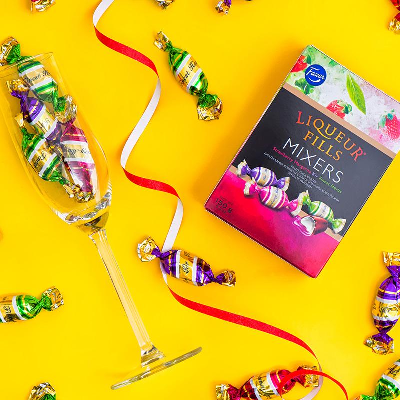 临期白菜!150gx2盒,芬兰进口 Fazermint菲泽 鸡尾酒酒心巧克力