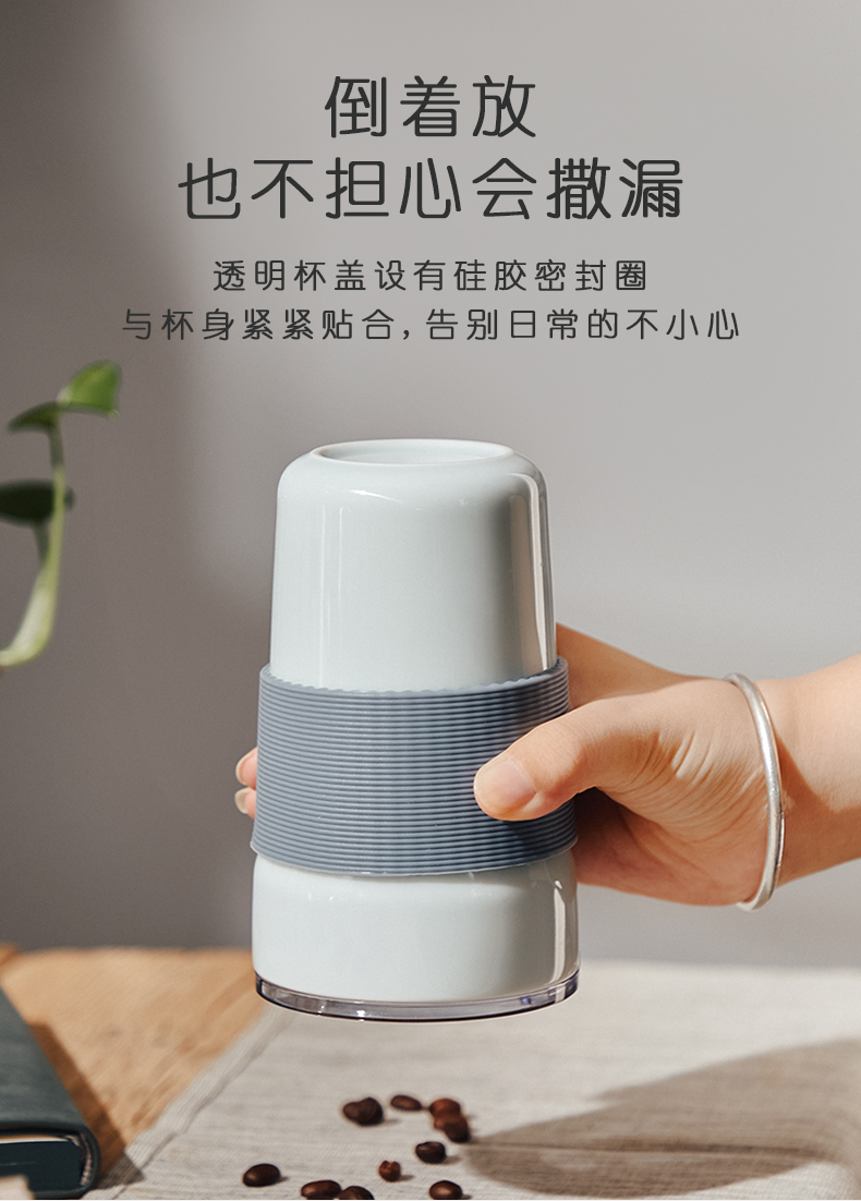 Bincoo ceramic coffee cup portable appearance level to go along with a cup of water glass with cover cup with contracted with straw