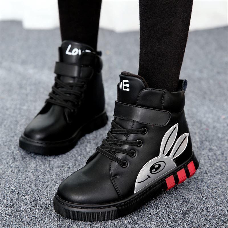 【3-16歲】女童靴子新款兒童靴女鞋短靴冬鞋鞋公主韓版中大童學生