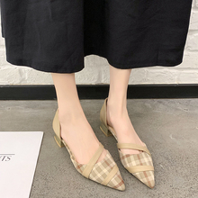 夏季新款超火小香风尖头百搭单鞋女鞋