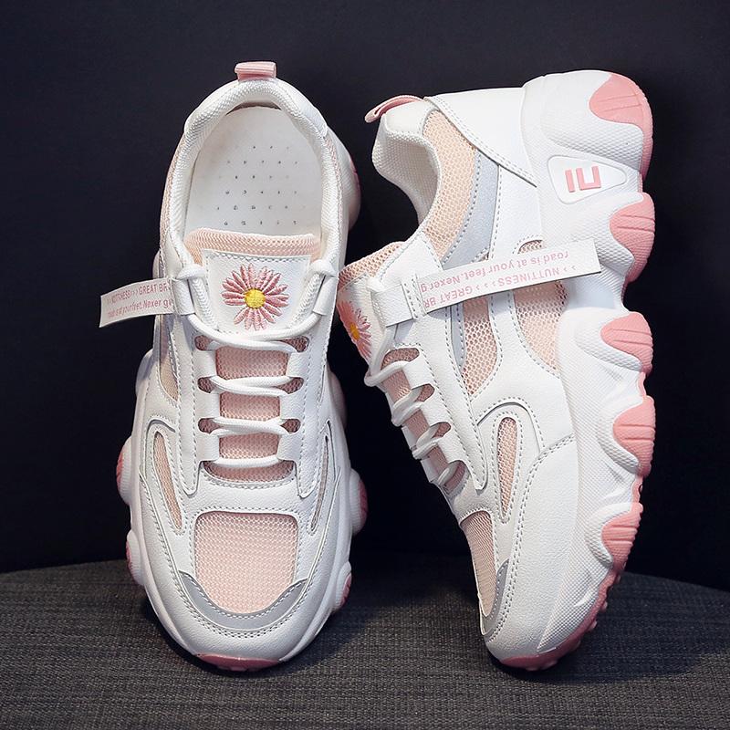 网红老爹小雏菊女鞋鞋女nis潮2020新款夏季单网v老爹运动鞋学生鞋