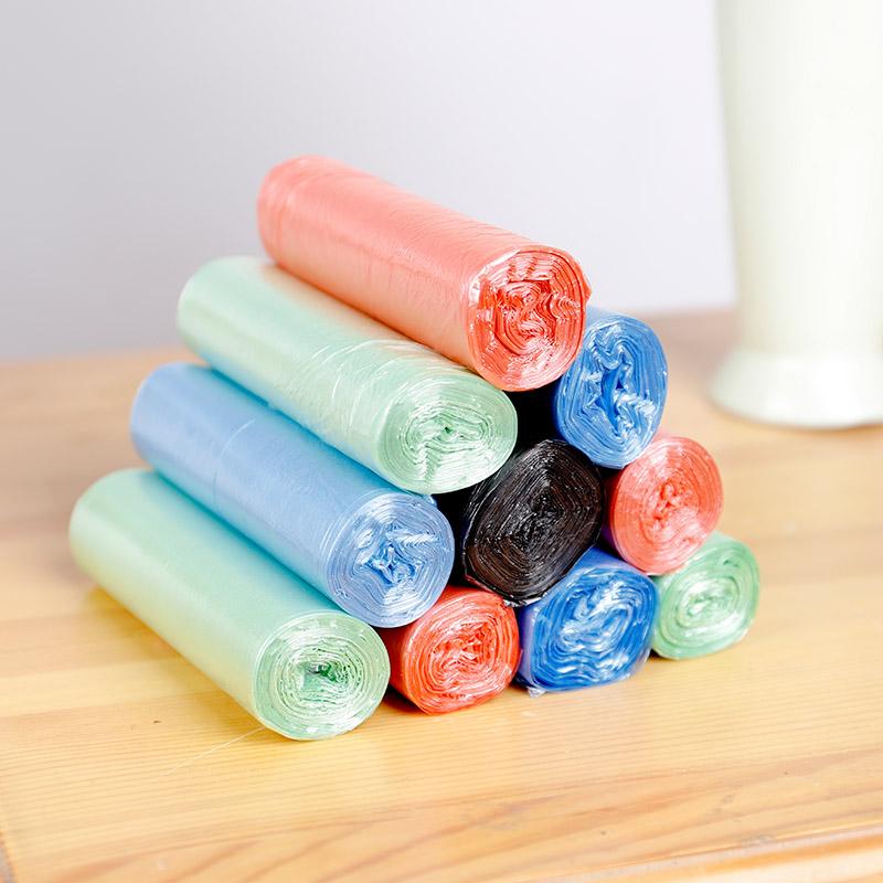 致伊垃圾袋家用手提式加厚学生宿舍用自动收口拉圾收纳塑料袋