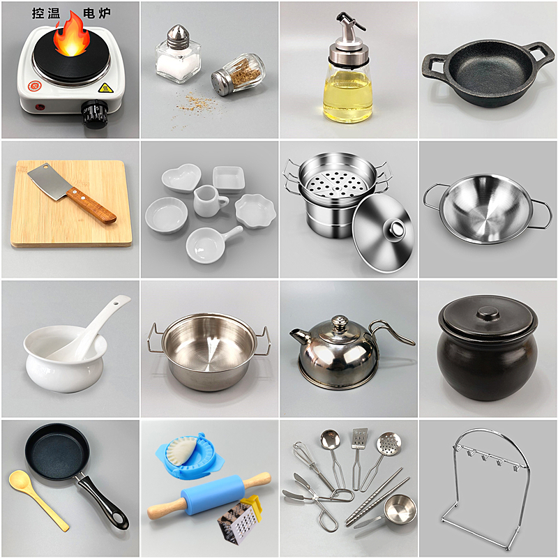 Mini Kitchen Set Cooking Real Cooking Japanese Food Playing Vibrato Small Kitchen Utensils Cooking Tools Real Children S Toys Lazada Ph