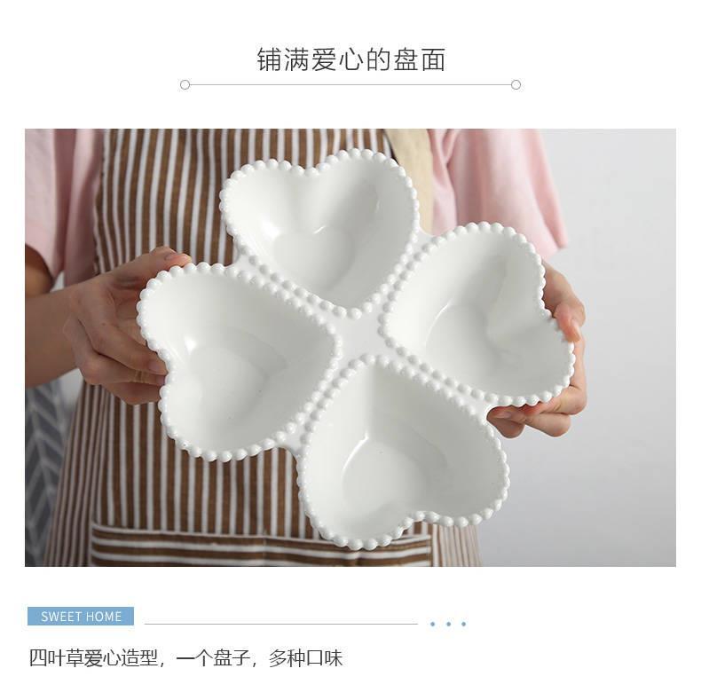 Nordic tableware lovers love shape plate household individuality creative disc ceramic western breakfast steak plate o L