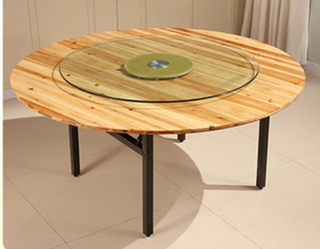 Round table tops fir wood foldably 1.8 m 2.4 m 2.6 m 3 m home round wood large round table