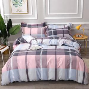 100%纯棉四件套【假一罚十】全棉宿舍床上用品斜纹被套床单高质量
