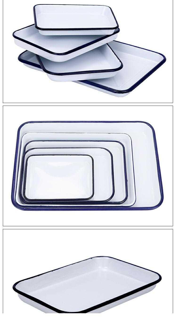 Pallet tray for enamel enamel square plate enamel disc LABS with thick plate plate with disinfection chemicals