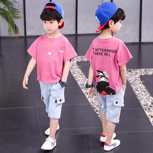 男童套装夏装儿童中大童短袖短裤两件套童装