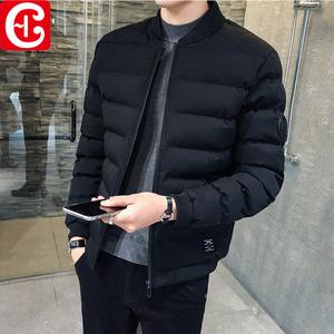 男士外套秋装冬季休闲棉服加绒上衣夹克男装
