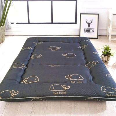 Thick feather velvet mattress mattress, tatami mattress, double floor mattress, foldable single double bed