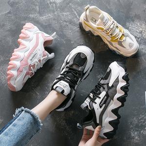 卡登克女士老爹鞋2020春新款韩版潮流个性休闲透气厚底跑步运动鞋