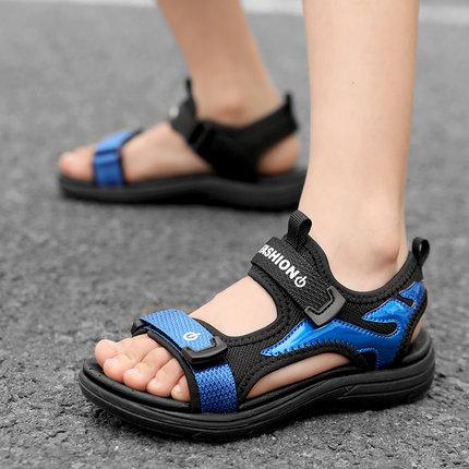 新款中大<font color='red'><b>童鞋</b></font>子软底防滑儿童沙滩鞋