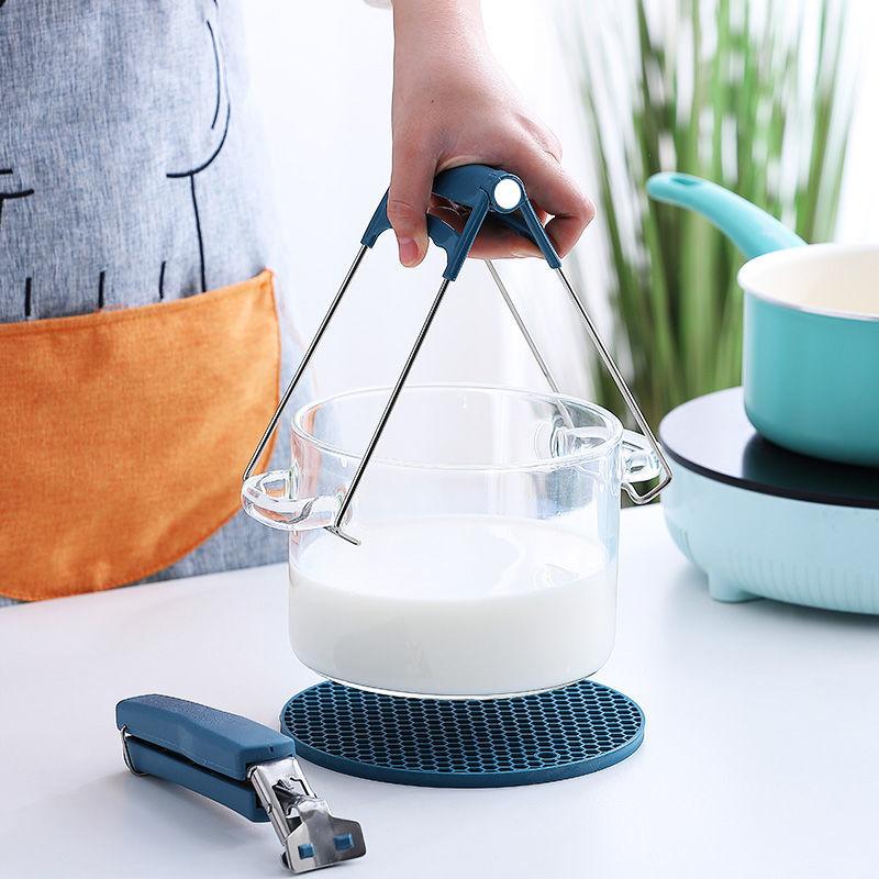 防烫夹提盘器取碗夹防滑盘子夹碗器夹子不锈钢碟夹厨房神器AA1