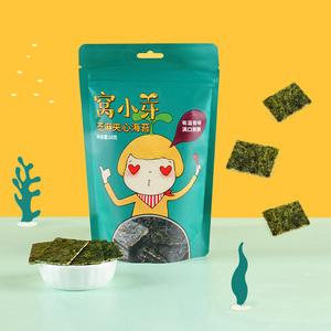 窝小芽芝麻夹心海苔脆婴童食品海苔*3