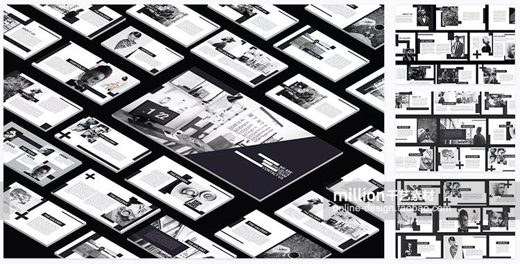 简约欧美时尚行业服装ppt模板清新大气黑白极简ppt素材2020新款插图(41)