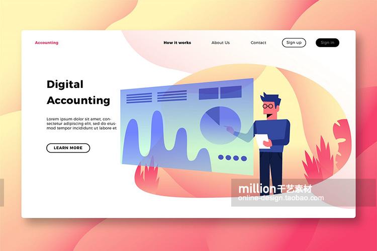 2.5d立体插画办公人物程序员工作场景网页插图设计 eps矢量素材插图(4)